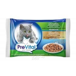 PreVital kočka sterilní játra a drůbeží, kapsa 100 g (pack 4 ks)