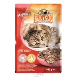 PPROPESKO Cat jehněčí a kuřecí, kapsa 100 g