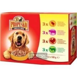 PROPESKO Dog drůbeží, hovězí, jehněčí a krůtí, kapsa 100 g (pack 12 ks)