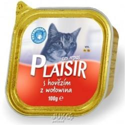 Plaisir Cat vanička 100g hovězí-13675