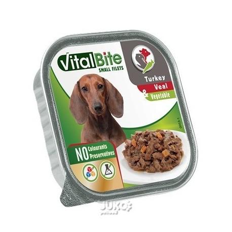 VitalBite masové ragou s telecím, krůtím a zeleninou, vanička 150 g