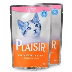 Plaisir Cat kapsička 100g KITTEN kuřecí v omáčce-13672