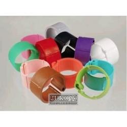 Kroužky zámkové plast 18 mm, různé barvy