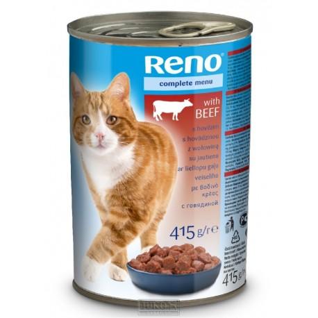 RENO Cat hovězí, kousky 415 g