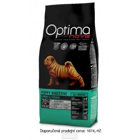 OPTIMAnova Dog Puppy Digestive Rabbit & Potato GF 12 kg