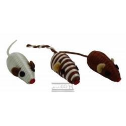 Myška hnědá/zlatá chrastící 5 cm