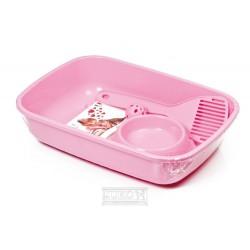 Sada WC s doplňky-Welcome-PINK-37x27x8,5h-80500