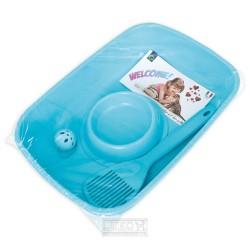 Sada WC s doplňky-Welcome-BLUE-37x27x8,5h-80500