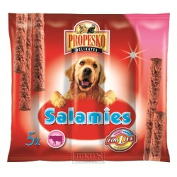 Propesko-pamlsek-salamies pes HOVĚZÍ-5KS-55g-11511