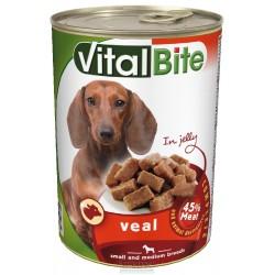 VitalBite kousky pes s telecím v želé 415g-11640