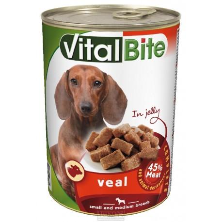 VitalBite pes telecí v želé, kousky 415 g