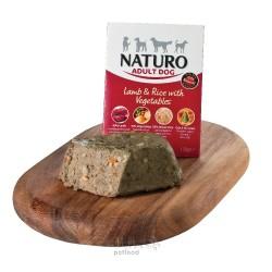 Naturo Dog Adult Mini Lamb & Rice with Vegetables, vanička 150 g