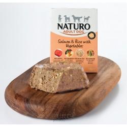 Naturo Dog Adult Mini Salmon & Rice with Vegetables, vanička 150 g