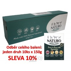 Naturo Adult Duck&Rice+Vegetabl 150g-10KS-AKCE 10%-12032