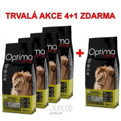 OPTIMAnova CAT HAIRBALL 8kg-4+1ks ZDARMA-12035
