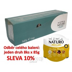 Naturo Cat Chicken Mousse 85g-8KS-AKCE 10%-12045