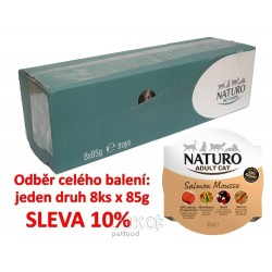 Naturo Cat Salmon Mousse 85g-8KS-AKCE 10%-12046
