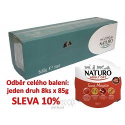 Naturo Cat Tuna Mousse 85g-8KS-AKCE 10%-12047