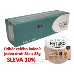 Naturo Cat Turkey Mousse 85g-8KS-AKCE 10%-12048