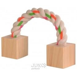 Dřevěná hračka s lanem 3x3x20cm-5968R