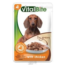 VitalBite kapsa pes s kuřecím ve šťávě 85g-12763