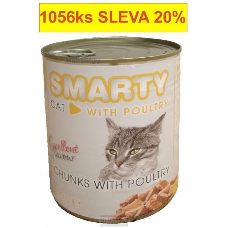 SMARTY chunks CAT 810g POULTRY-drůběží-11216