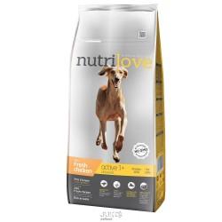 Nutrilove pes granule ACTIVE fresh kuřecí 12kg+MALÉ BALENÍ ZDARMA-15311