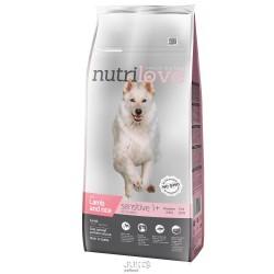 Nutrilove pes granule SENSITIVE jehněčí+rýže 12kg-13207 + 2 konzervy paté ZDARMA