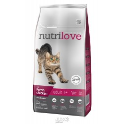 Nutrilove kočka granule ADULT fresh kuřecí 8kg+MALÉ BALENÍ ZDARMA-15313