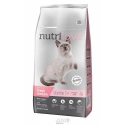 Nutrilove kočka granule STERILE fresh kuřecí 7kg-13211 + 2 konzervy paté ZDARMA