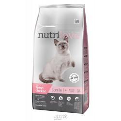Nutrilove kočka granule STERILE fresh kuřecí 7kg+MALÉ BALENÍ ZDARMA-1514