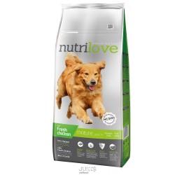 Nutrilove pes granule MATURE fresh kuřecí 12kg-13203 + 2 konzervy paté ZDARMA