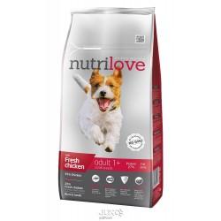 Nutrilove pes granule ADULT Small fresh kuřecí 8kg-13197 + 1 konzerva paté ZDARMA