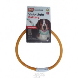 Karlie LED obojek na baterie oranžová 70 cm