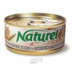 Naturel cat-can Chicken with w. fish 70g-010023