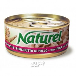 Naturel cat-can Tuna with ham 70g-010025