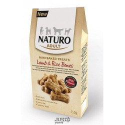 Naturo-snack Mini Baked Treats-Bones Lamb&Rice150g-12693
