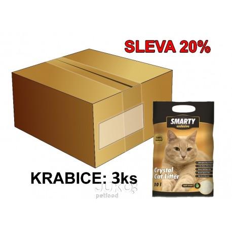 SMARTY exclusive silikátové stelivo 10 l AKCE 15 %