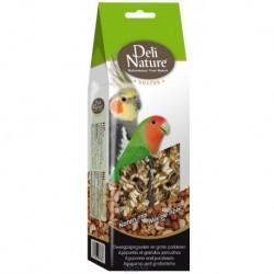 Deli Nature SNACK AGAPORNIS,PARAKEETS-NUTS 130g-Agapornis a Velký Papoušek-Ořechy a Fíky-12954