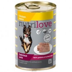 Nutrilove pes kuřecí paté, konzerva 400 g