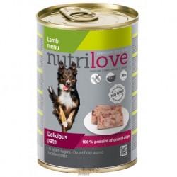 Nutrilove pes jehněčí paté, konzerva 400 g