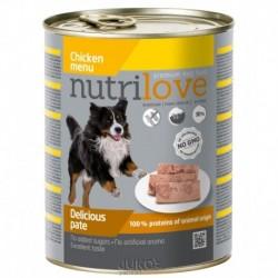 Nutrilove pes kuřecí paté, konzerva 800 g