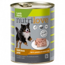 Nutrilove pes jehněčí paté, konzerva 800 g