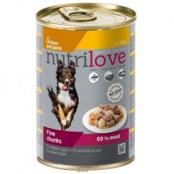 Nutrilove pes kuřecí, těstoviny kousky v želé, konzerva 415 g