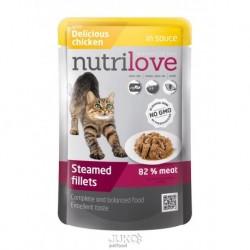 Nutrilove kočka kapsička, šťáva kuřecí 85g-13185