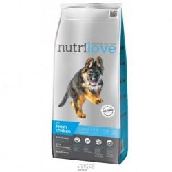 Nutrilove pes Junior Large fresh kuřecí, granule 3 kg