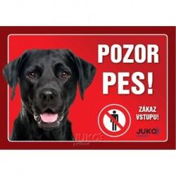 samolepka-Pozor Pes-LABRADOR černý-13624