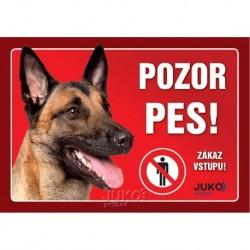 samolepka-Pozor Pes-BELGICKÝ OVČÁK MALINOIS-13627