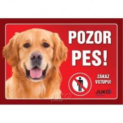 samolepka-Pozor Pes-RETRIEVER-13628