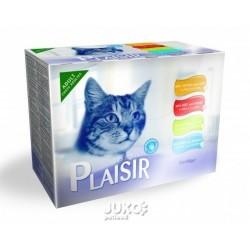 Plaisir Cat Multipack, kapsičky 100 g (12 ks)
